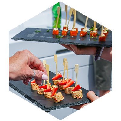 Canapés, Food and Drink