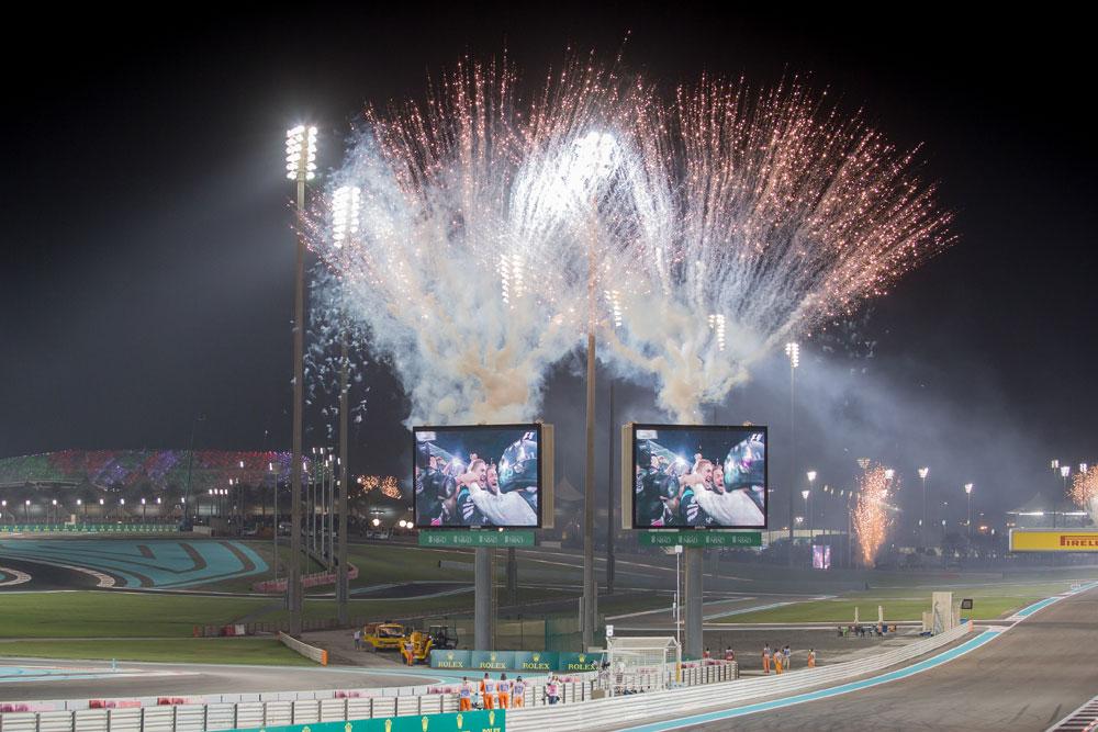 Abu Dhabi Formula One Grand Prix Fireworks