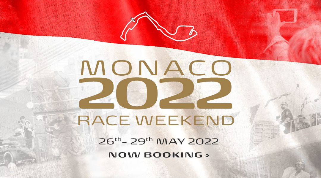 Now booking for Monaco F1 Weekend 2022